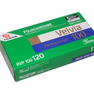 Fuji VELVIA 100 120 Medium Format colour transparency film (5-pack)-0