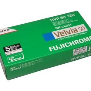 Fuji Velvia 50 120 medium format colour transparency roll film (5-pack)-0