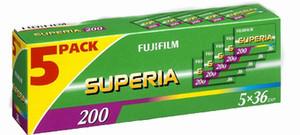 FUJIFILM Superia 200 colour negative film, 36 exposure (box of 5 rolls)-0