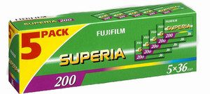 FUJIFILM Superia 200 colour negative film, 36 exposure (10 rolls)